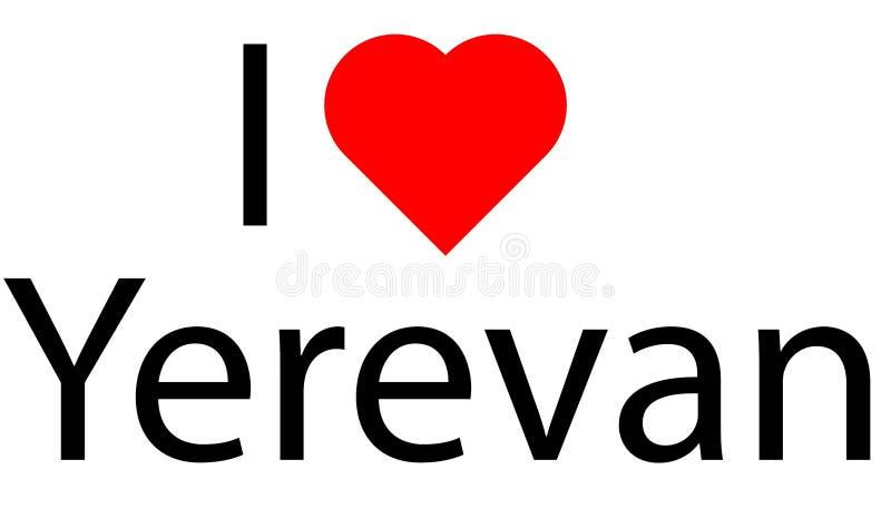 Logo avec amour du coeur I ceci illustration de vecteur
