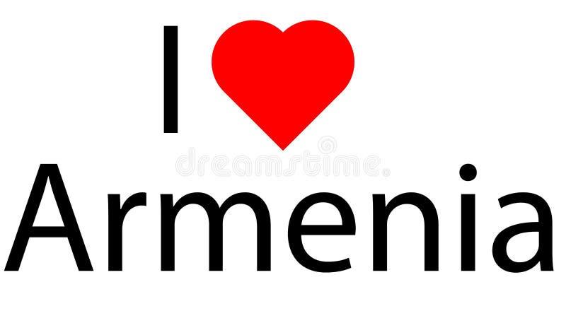 Logo avec amour du coeur I ceci illustration stock