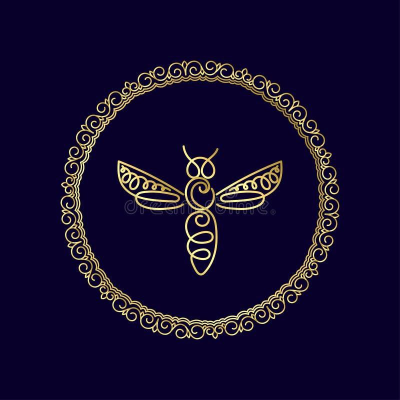 Download Logo Avec L'insecte Abeille D'insigne Pour L'identité D'entreprise Image stock - Image du ligne, nature: 87702069