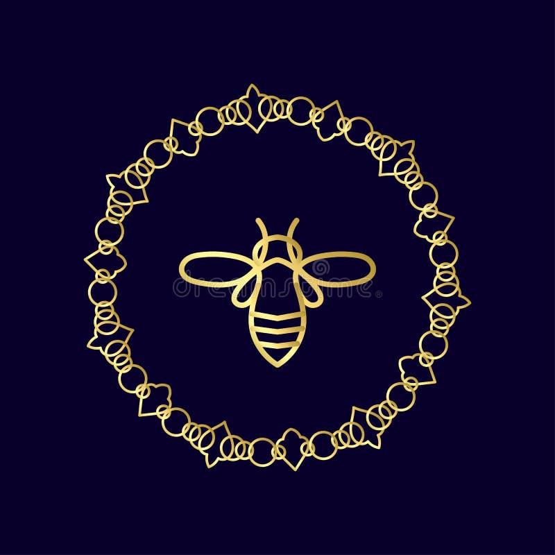 Download Logo Avec L'insecte Abeille D'insigne Pour L'identité D'entreprise Photo stock - Image du nourriture, identité: 87702086
