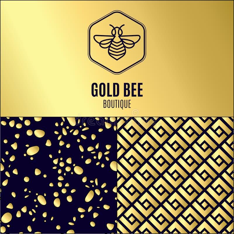 Download Logo Avec L'insecte Abeille D'insigne Pour L'identité D'entreprise Illustration de Vecteur - Illustration du logotype, répétition: 87702202