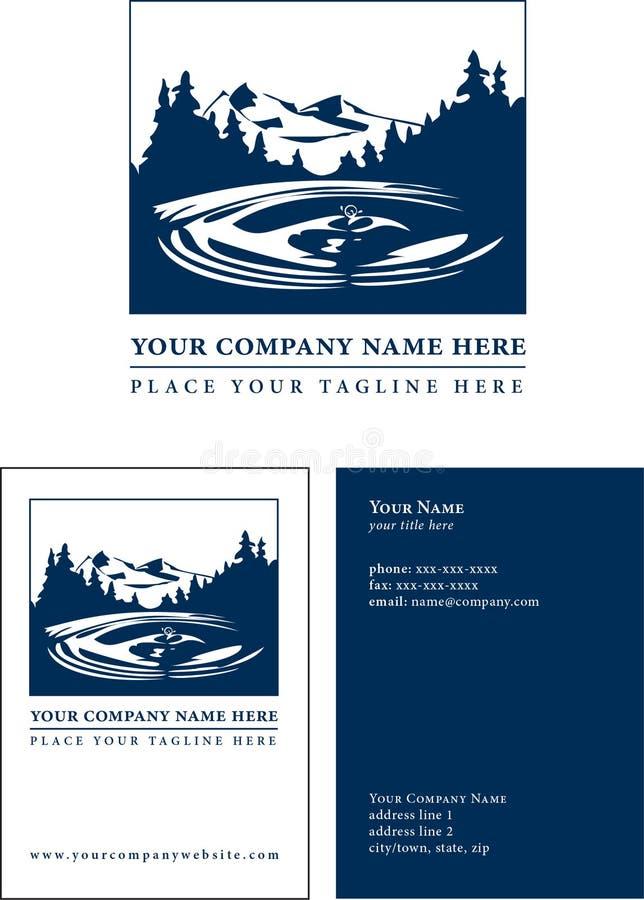 Logo avec le descripteur de carte de visite professionnelle de visite