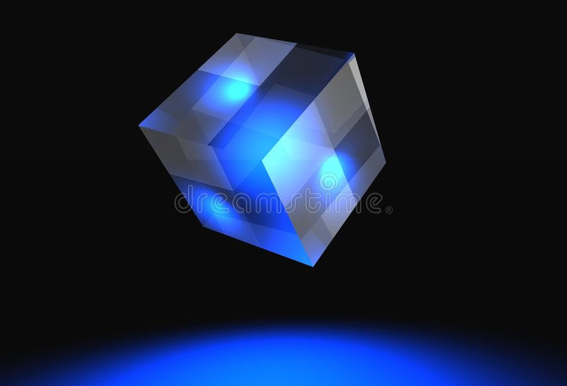 Download Logo banner cube stock illustration. Illustration of abstract - 1416354