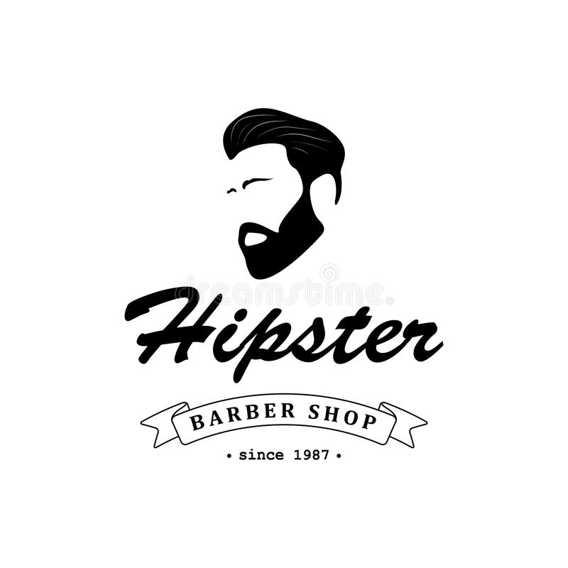 Download Logo for barber shop. stock vector. Image of beard, logo - 83706362