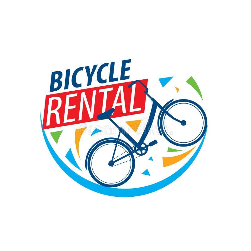 Logo for Bicycle rental. Vector illustration on white background vector illustration