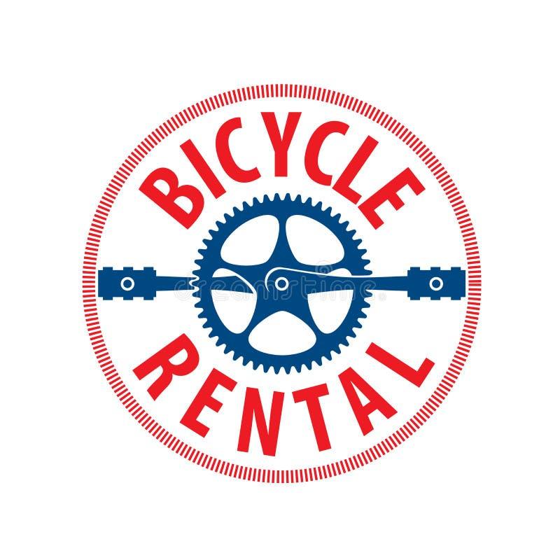 Logo for Bicycle rental. Vector illustration on white background stock illustration