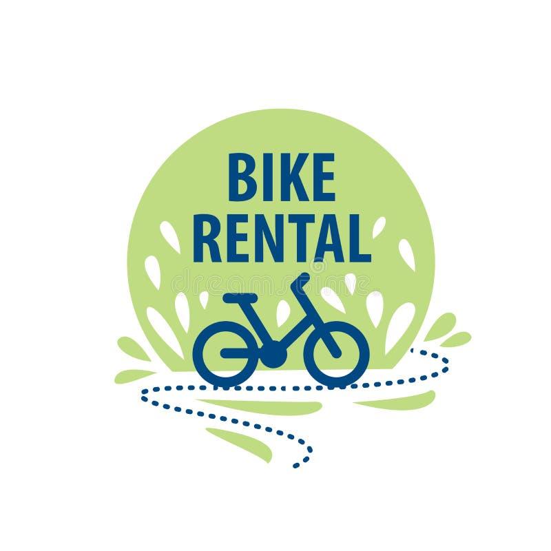 Logo for Bicycle rental. Vector illustration on white background royalty free illustration