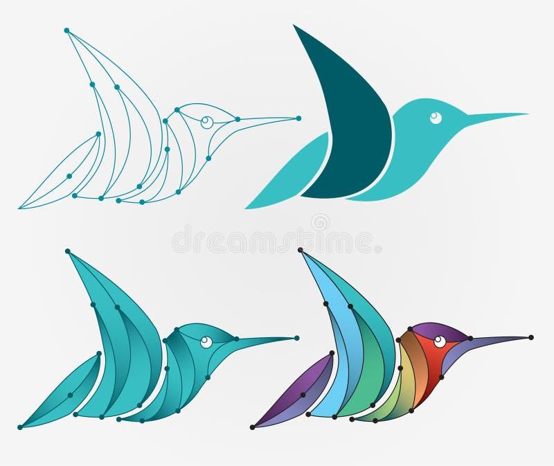 Logo Bird royalty-vrije stock afbeeldingen