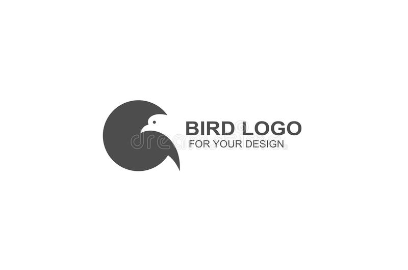 Bird logo vector, icon illustration graphic design. stock illustration