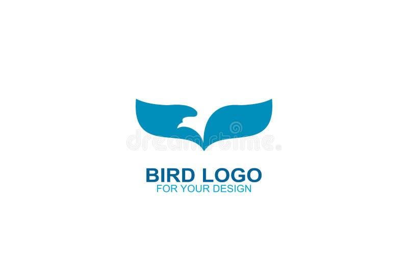 Bird logo vector, icon illustration graphic design. royalty free illustration