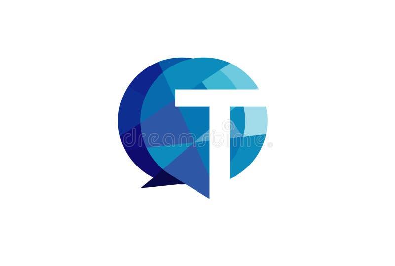 Logo bleu abstrait de bulle d'entretien illustration de vecteur