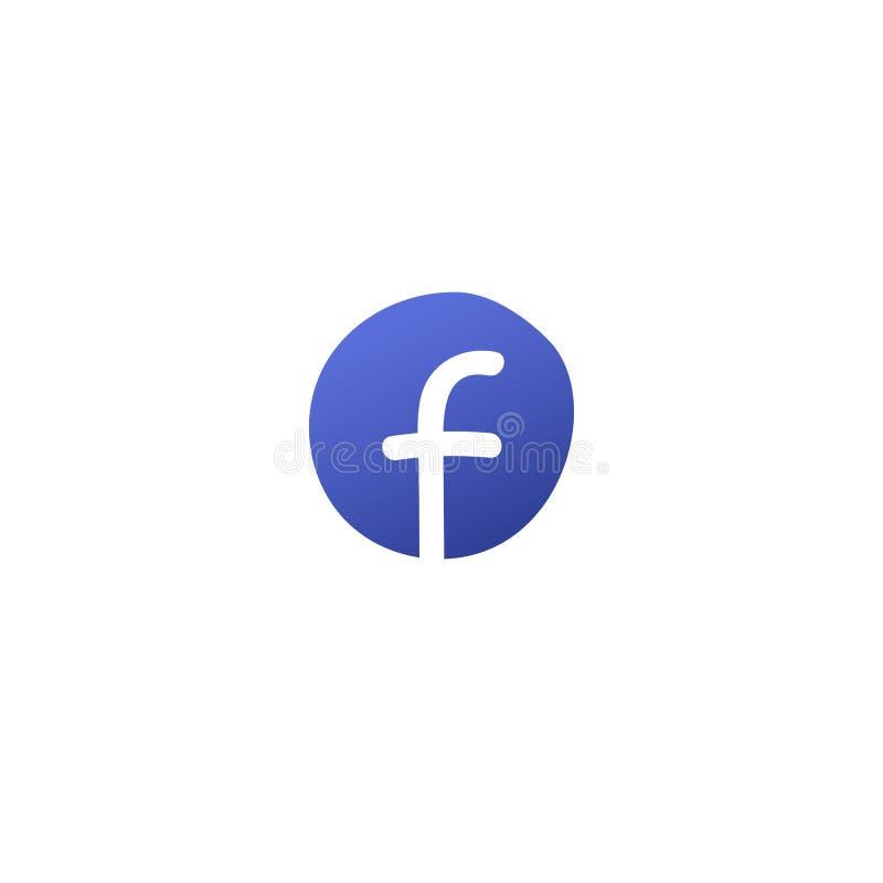 Logo bleu de médias sociaux modernes tirés par la main illustration libre de droits