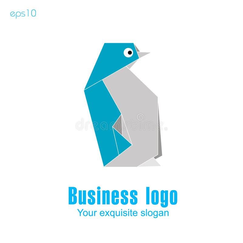 Logo bleu de pingouin illustration de vecteur