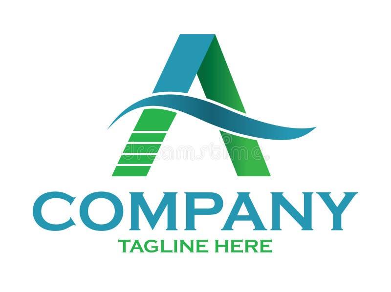 Logo bleu et vert de couleur de construction photo stock