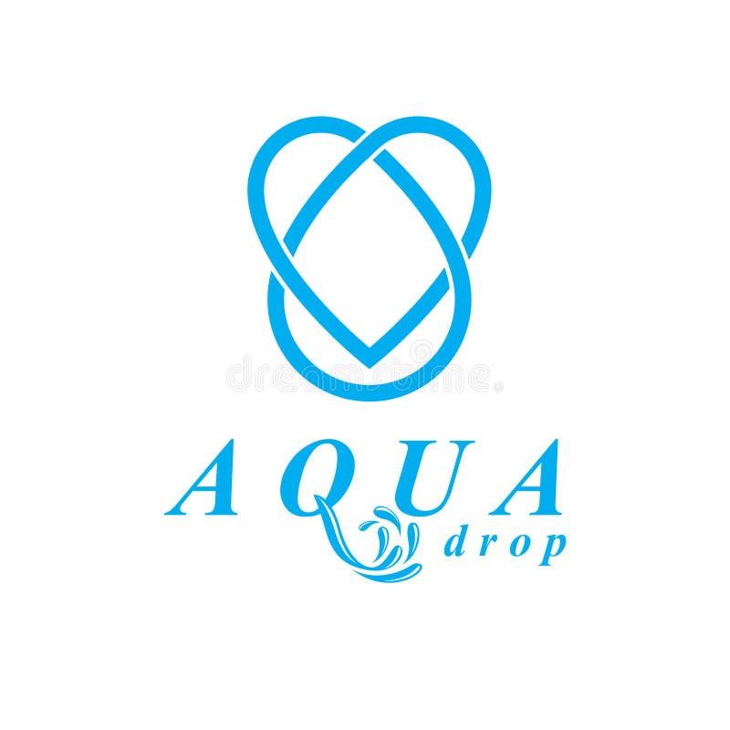 Logo blu della goccia di acqua di vettore chiaro per uso come progettazione di vendita sy royalty illustrazione gratis
