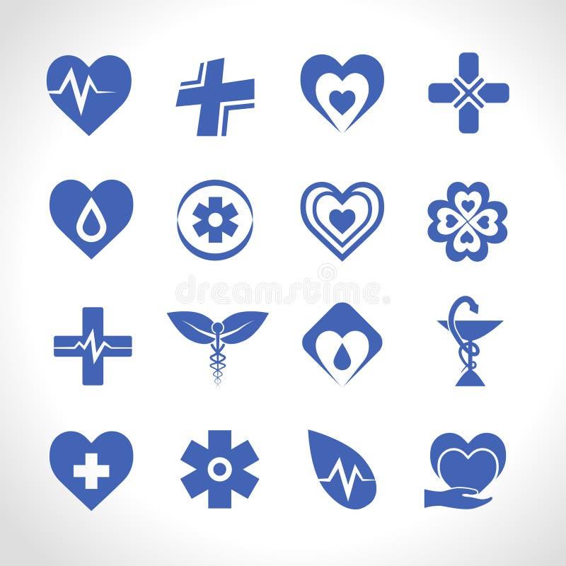 Logo Blue médical illustration stock