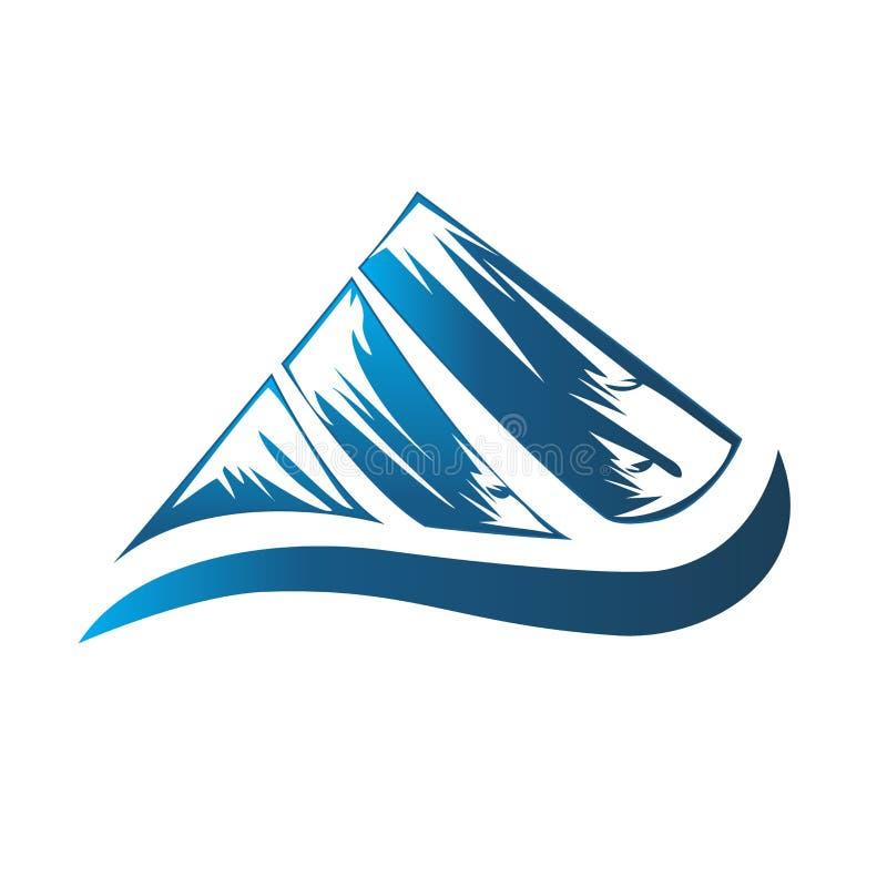 Logo blue mountain image vector icon identity card stock illustration