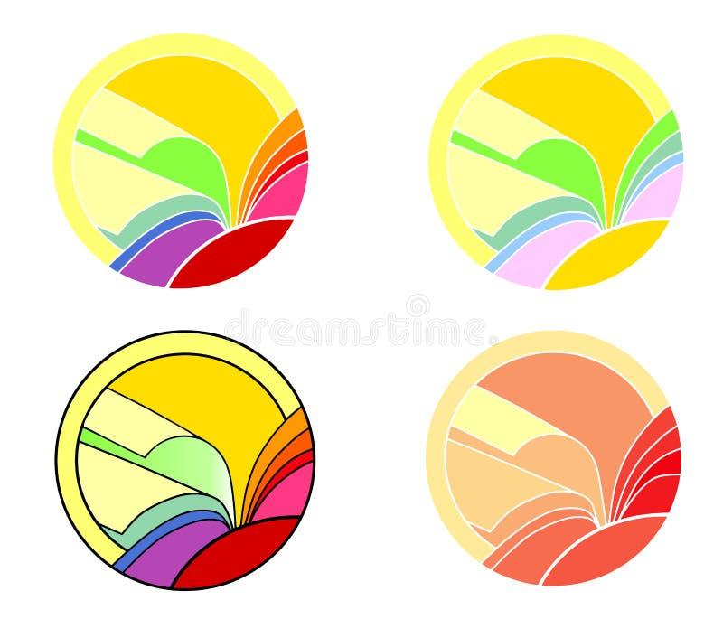 Logo Book royalty free stock image