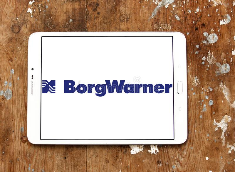 BorgWarner company logo. Logo of BorgWarner company on samsung tablet. BorgWarner Inc. is an American worldwide automotive industry components and parts supplier stock photos