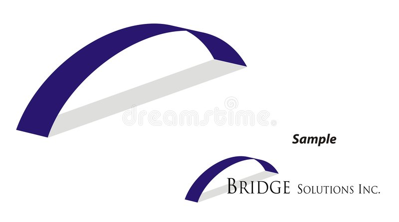 Logo - Bridging Gap. Logo for company providing solutions - in a way bridging the gap / letting two parties meet / leading to success vector illustration