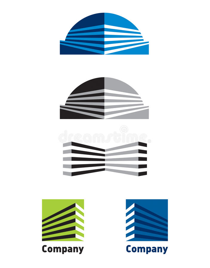 Logo building. Illustration of building logo with isolated background