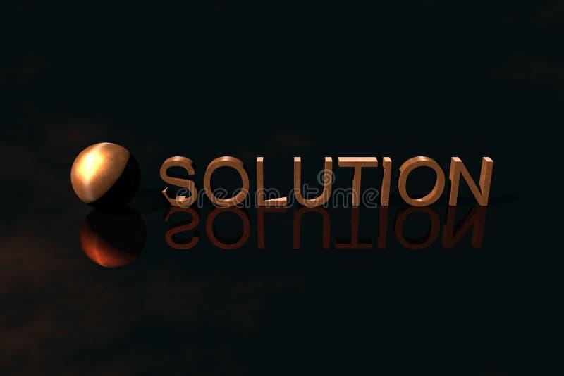 Logo Business, Solution royalty free illustration
