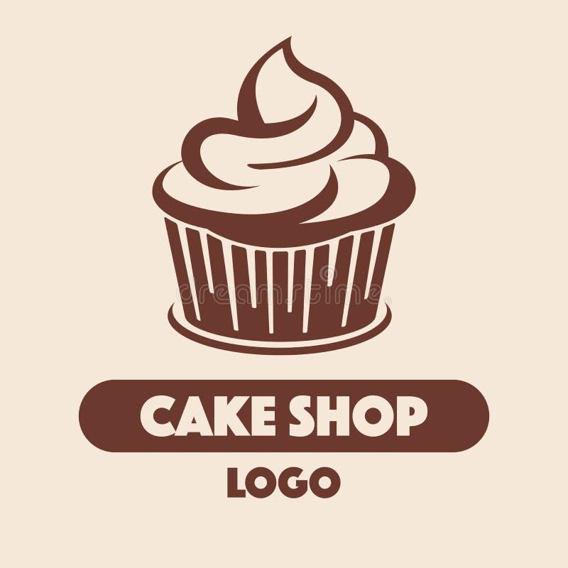 Logo Cake-Shop lizenzfreie abbildung
