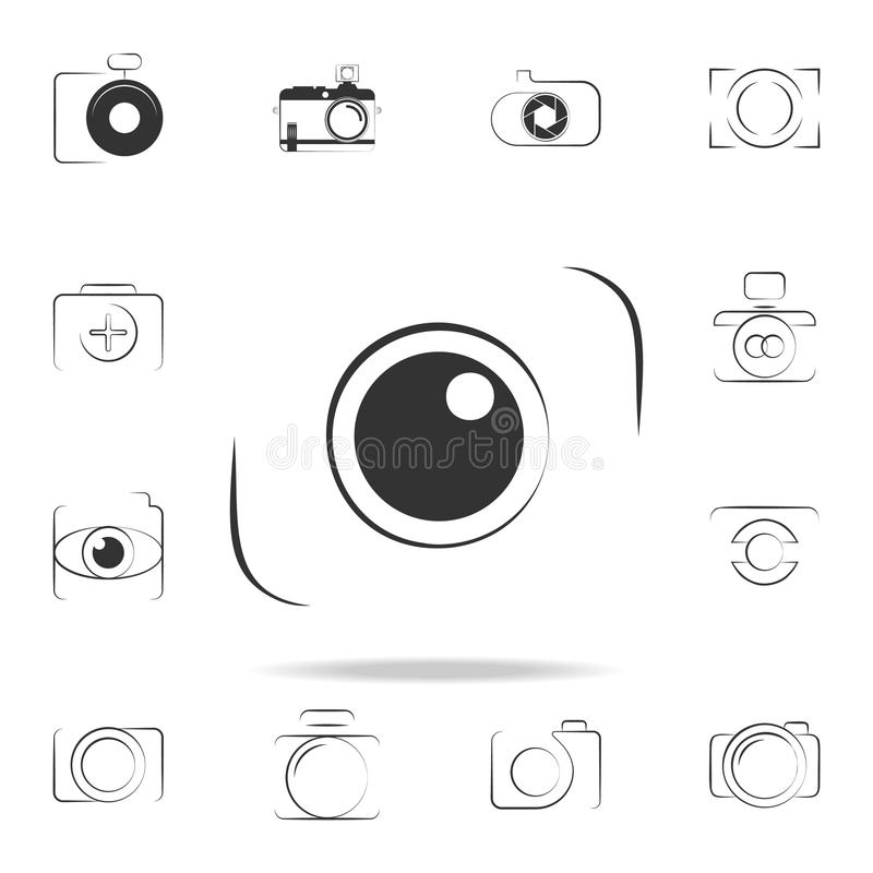 Logo camera icon. Detailed set of photo camera icons. Premium graphic design. One of the collection icons for websites, web design. Mobile app on white stock illustration
