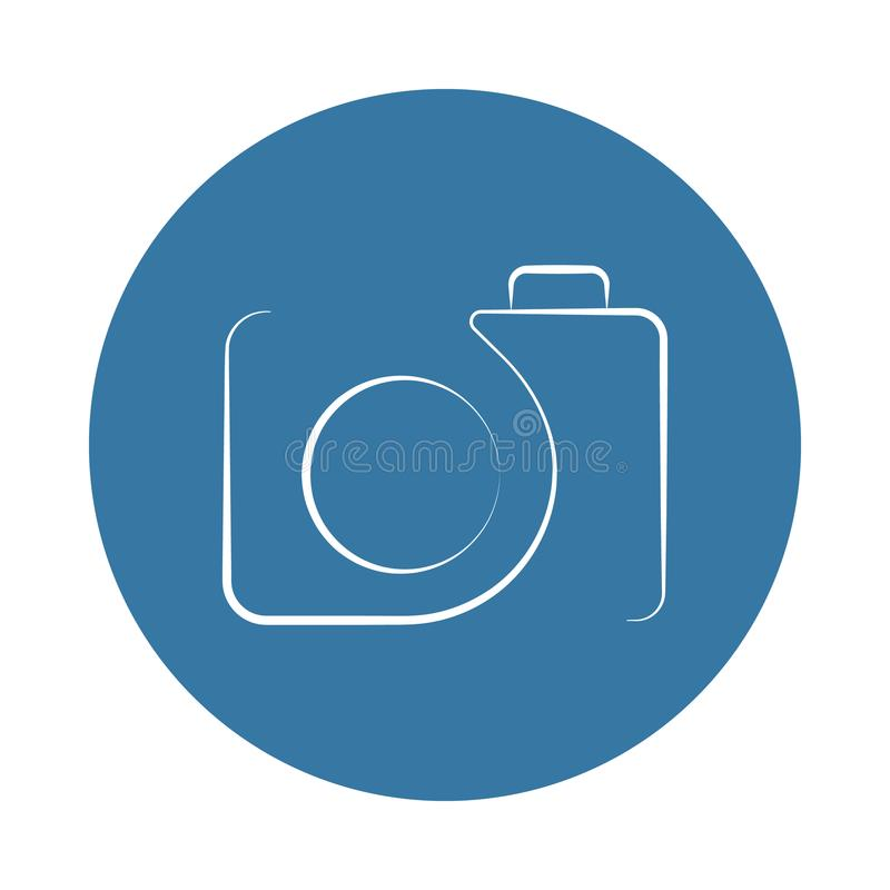 logo camera icon. Element of photo icons for mobile concept and web apps. Badge style logo camera icon can be used for web and mob royalty free illustration