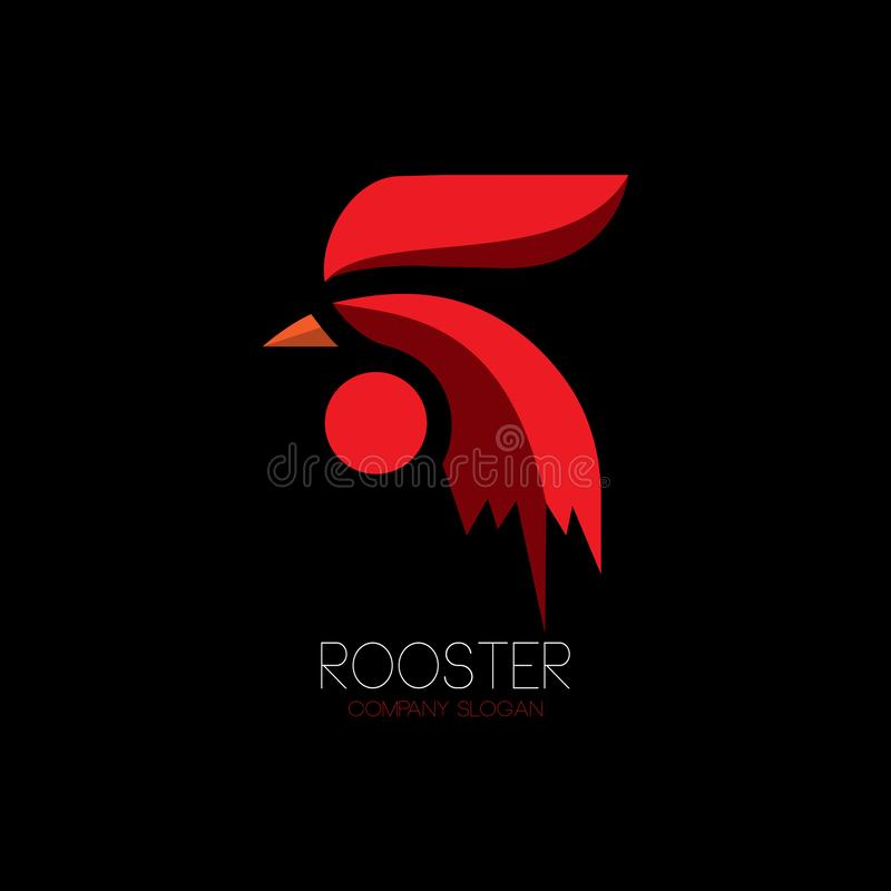 abstract red rooster logo for farm chicken stock vector illustration of mark farm 140986583 abstract red rooster logo for farm