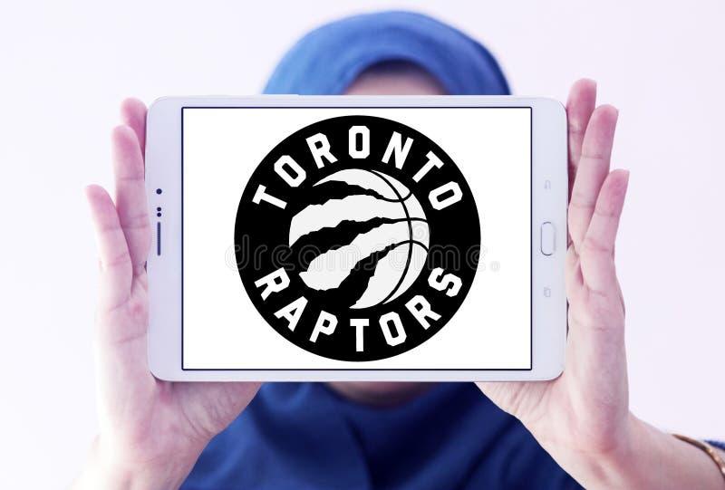 Logo canadien d'équipe de basket de Toronto Raptors images stock