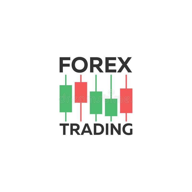 Logo Candlestick Trading Chart Analyzing In Forex Stock ...