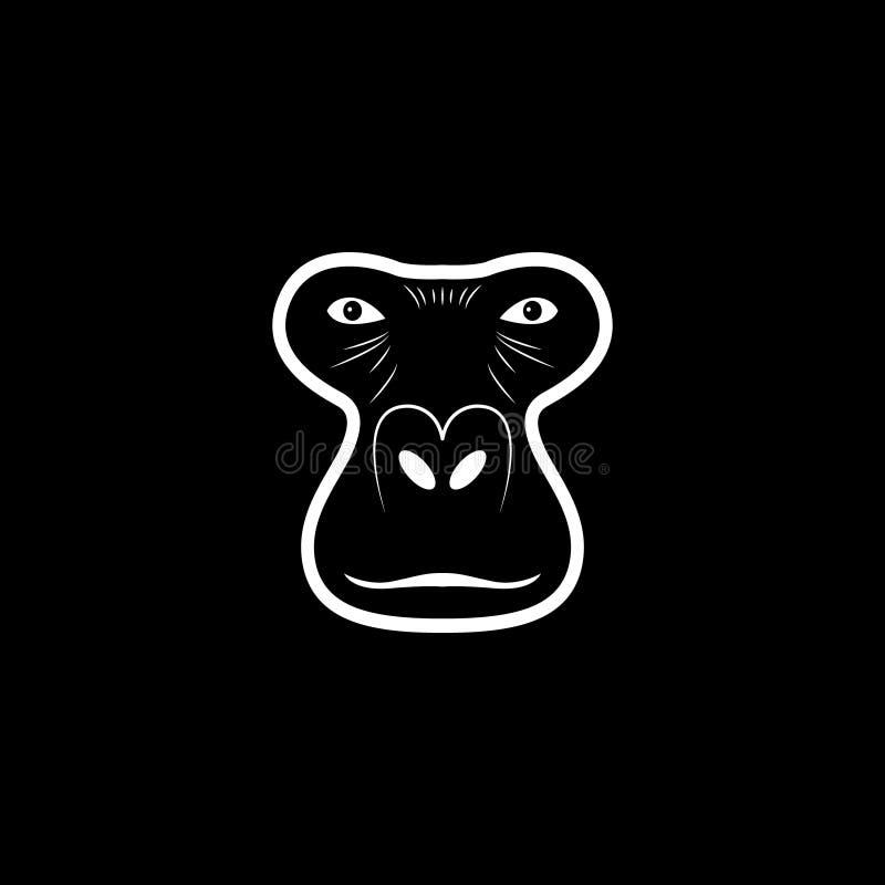 Logo capo della gorilla Logotype animale della mascotte royalty illustrazione gratis