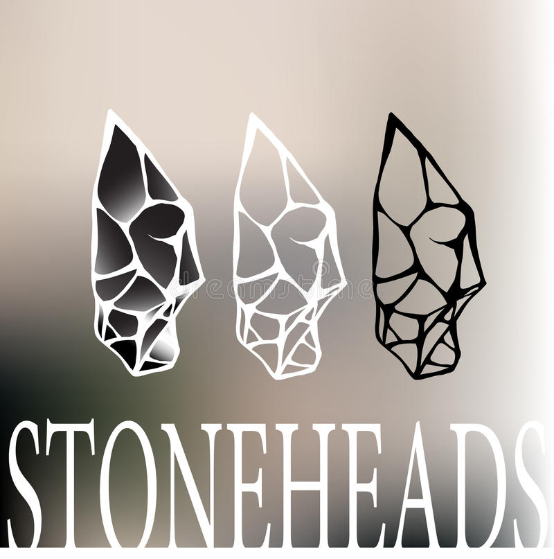 Logo capo di pietra fotografie stock