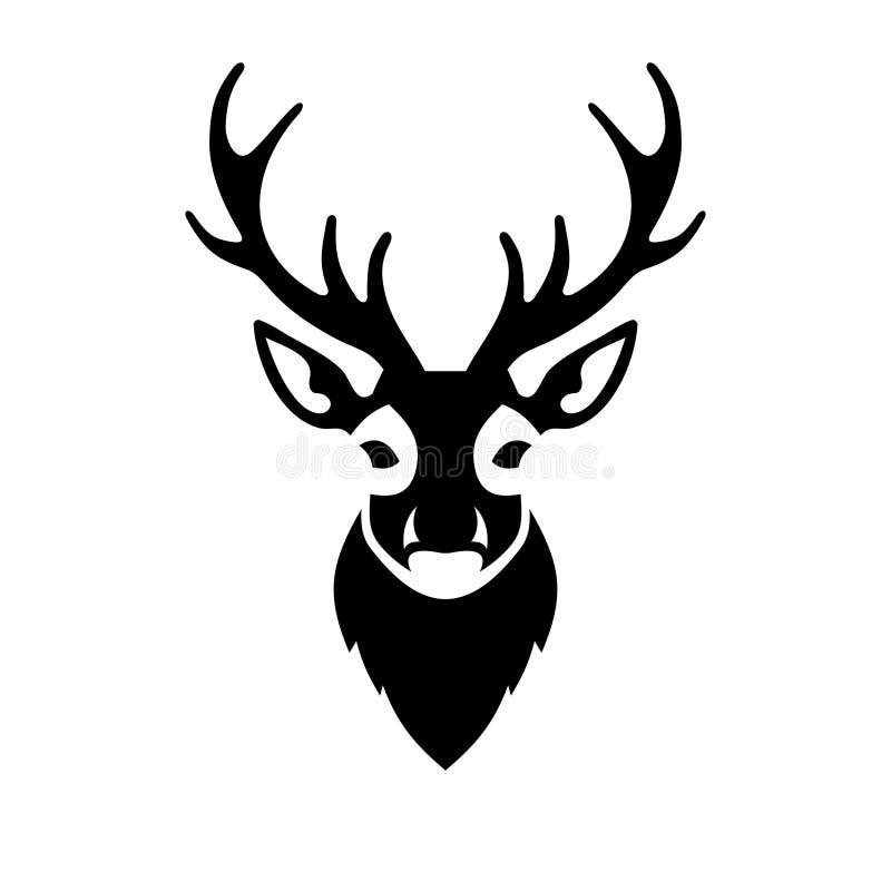 Logo capo di vettore dell'icona dei cervi illustrazione vettoriale