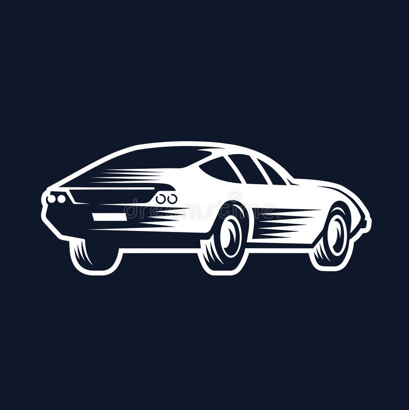 Logo of the car. back view. royalty free illustration