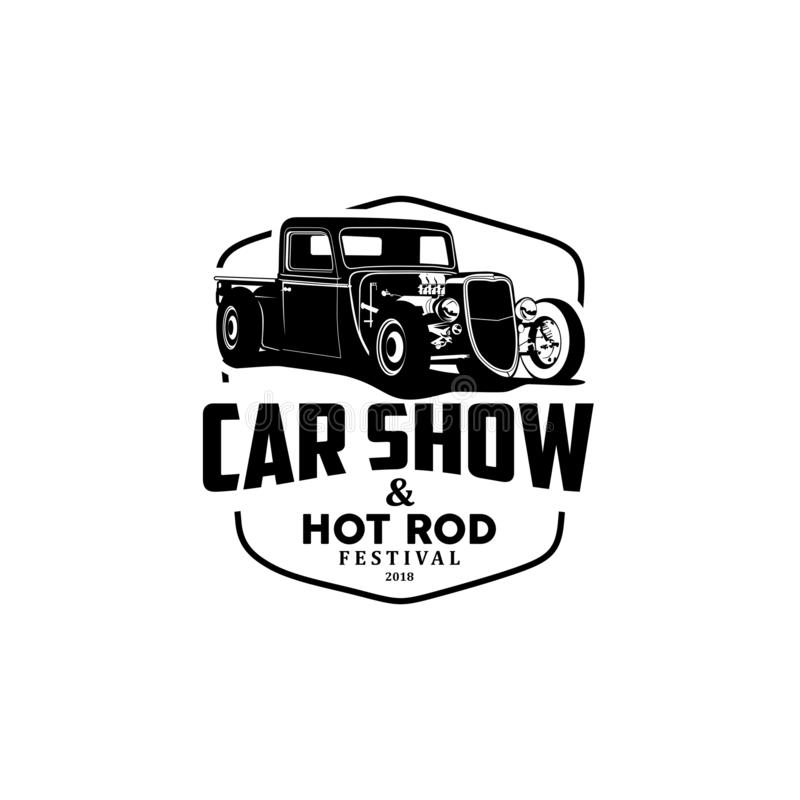 Car show and hot rod logo vector. Logo car speed car shop and auto repair logo vector,auto repair car badge,Sport car auto vintage logo vector,Modern speed car vector illustration