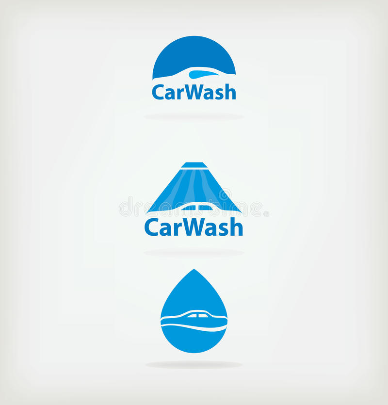Logo car wash. Three logo for car wash