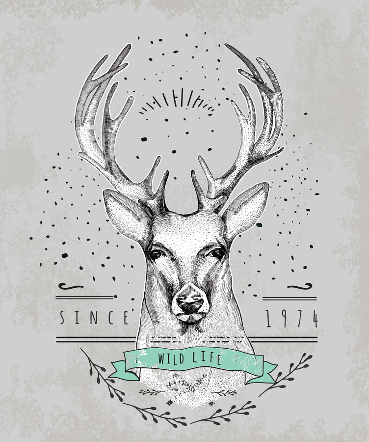 Logo caro d'annata Progettazione per la maglietta illustrazione di stock