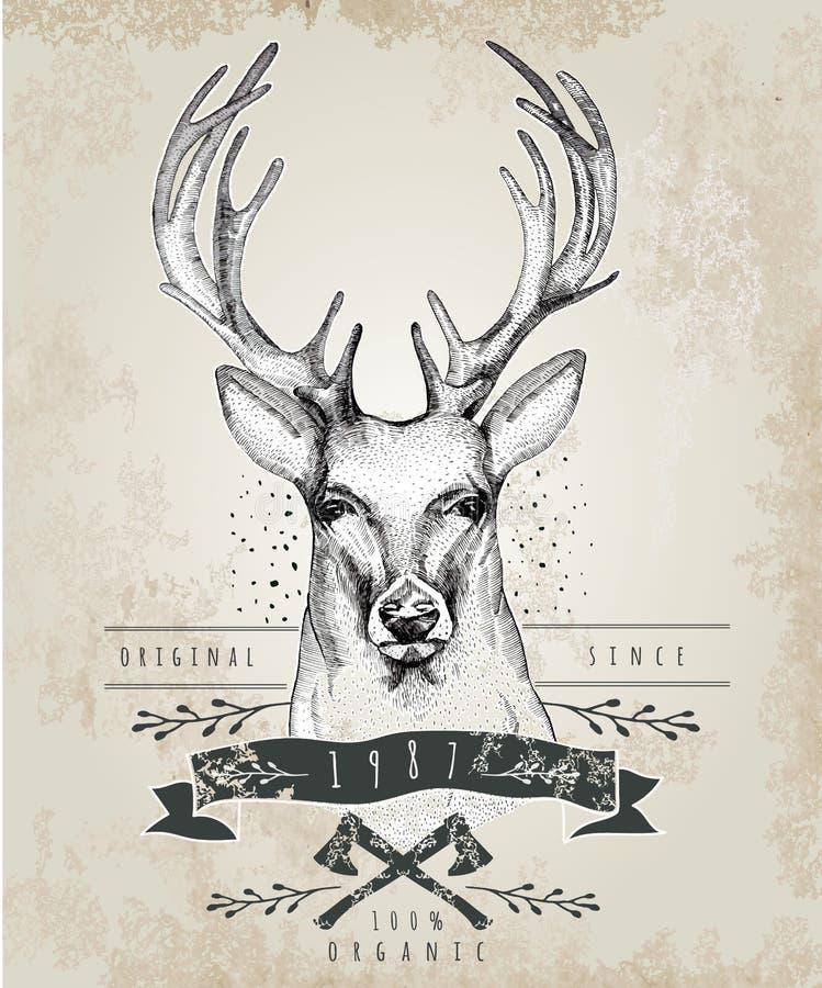 Logo caro d'annata Progettazione per la maglietta illustrazione vettoriale