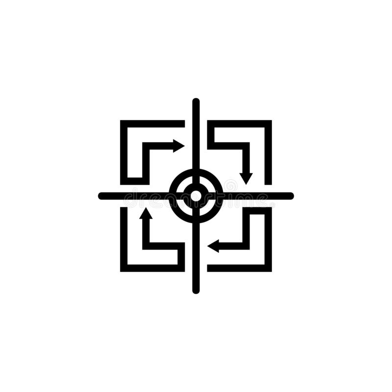 Logo carré de cible de flèche illustration libre de droits