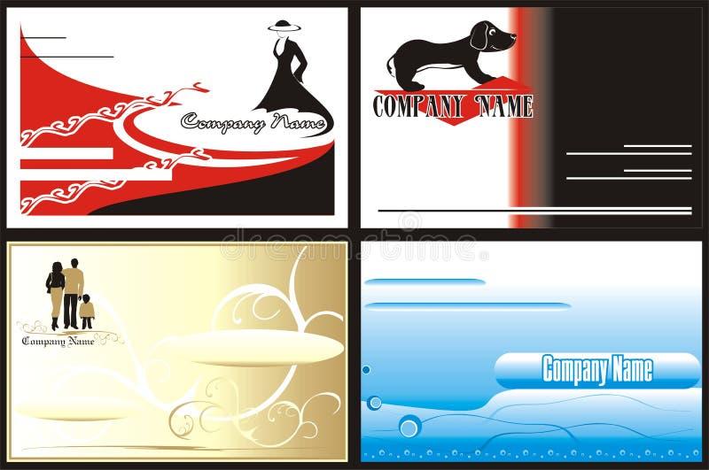 Logo. Cartes de visite professionnelle de visite. Type corporatif illustration libre de droits