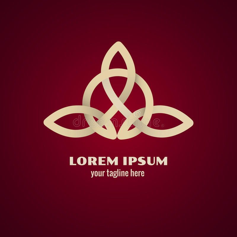 Logo celtique de noeud illustration libre de droits