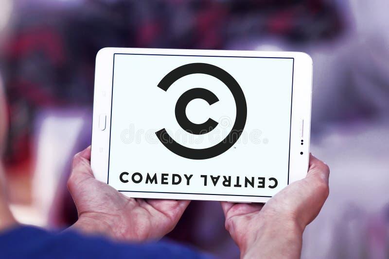 Logo central de chaîne de télévision de comédie photographie stock