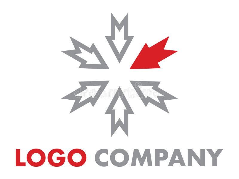 Logo central de compagnie illustration stock