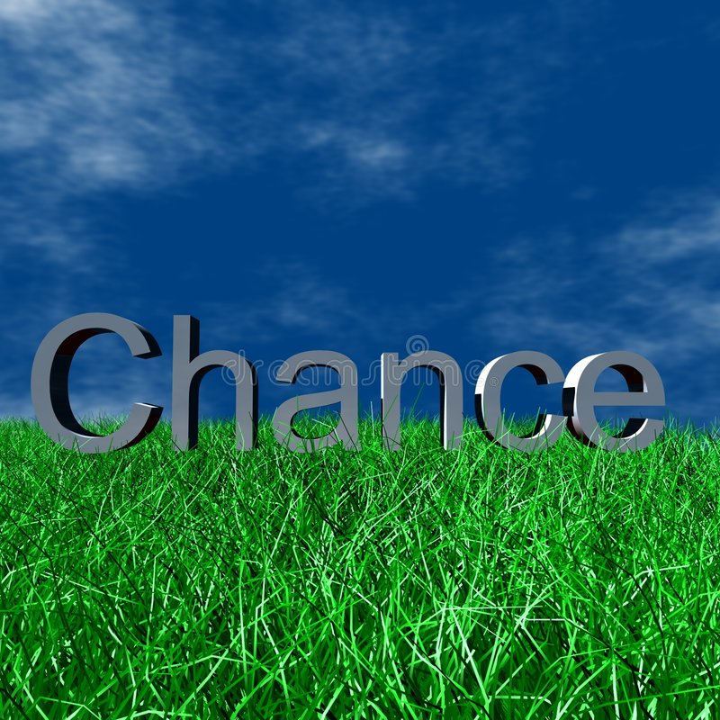Logo Chance. 3D Logo and Symbol Business, Chance stock illustration