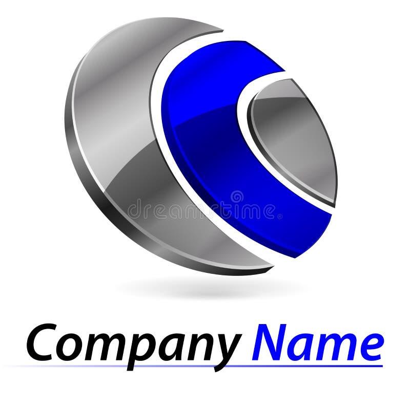 Logo che marca a caldo 3d fotografia stock libera da diritti