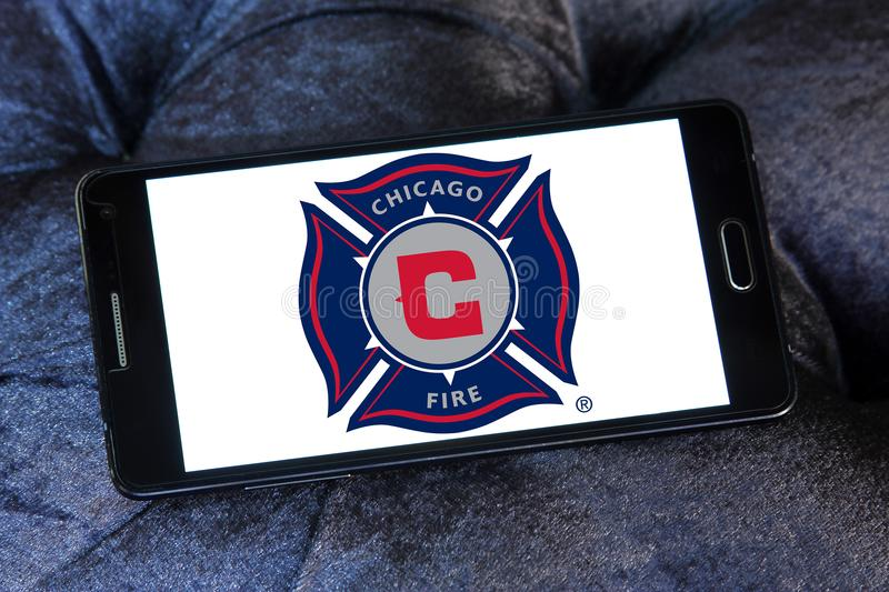 Chicago Fire Soccer Club logo stock photography