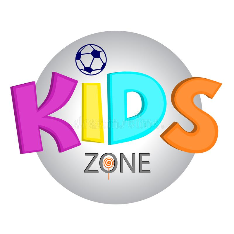 Logo for children`s company vector illustration
