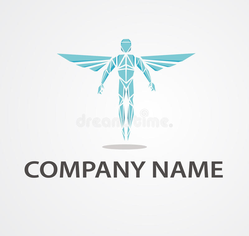 Logo with chiropractor stock illustration